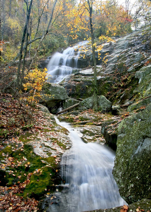 Autumn Waterfall royalty free stock images