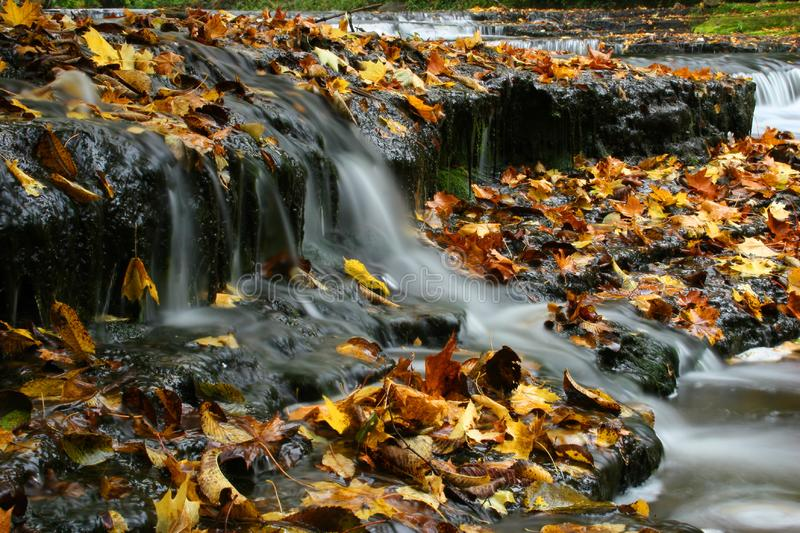 Autumn waterfall in Estonia royalty free stock photography