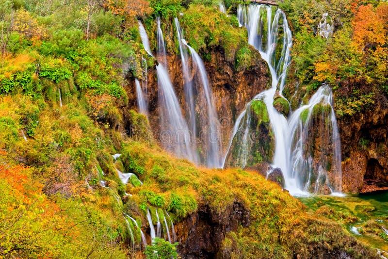 Autumn Waterfalls stock images