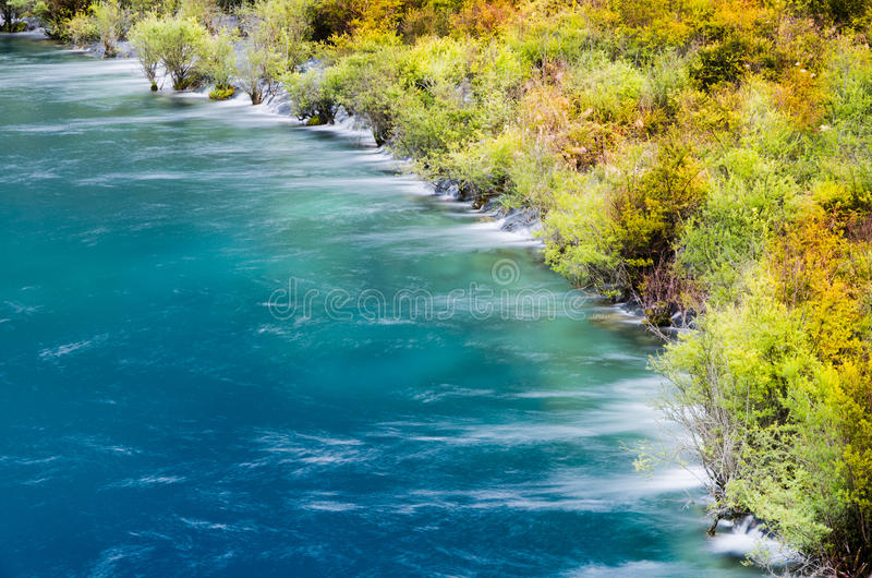 Autumn waterfalls of JiuZhaiGou royalty free stock photography