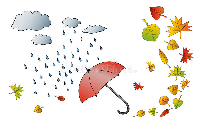 Ветер и листья картинка для детей
