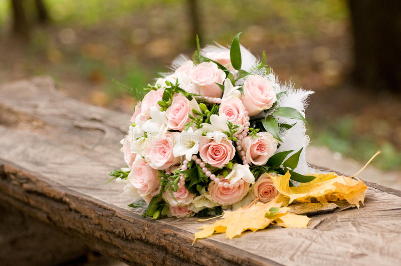 Download Autumn Wedding Bouquet Stock Image Of Wood Pink