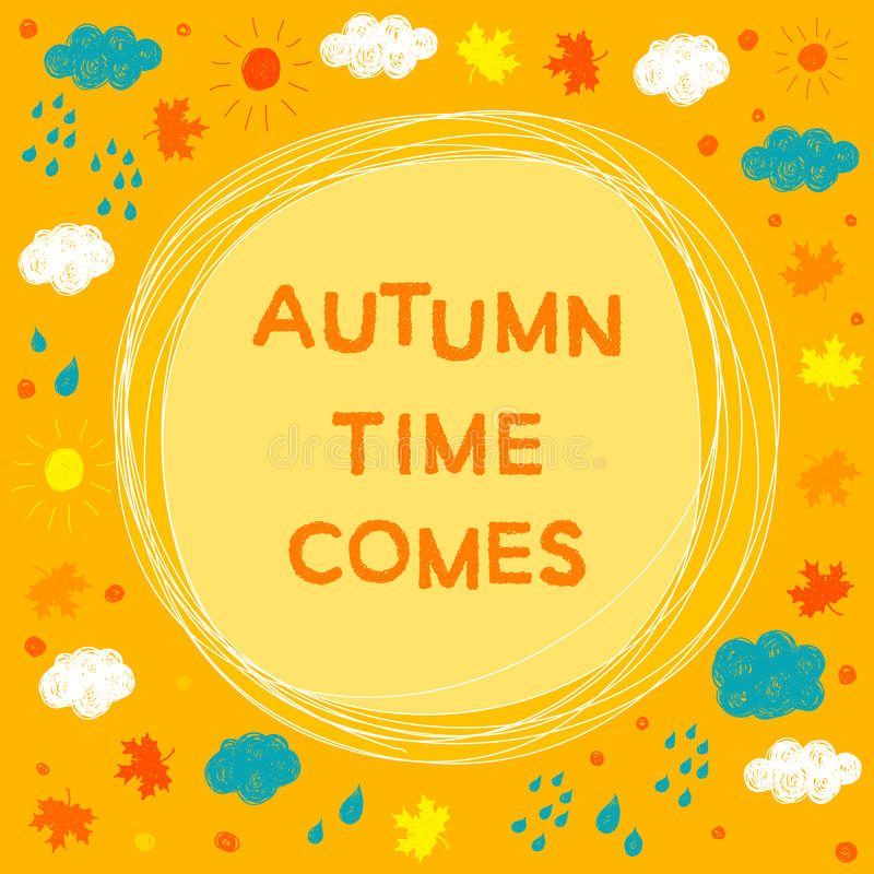 Autumn wether time theme. royalty free illustration
