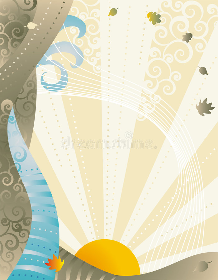Download Autumn winds background stock vector. Image of radiant - 2815572