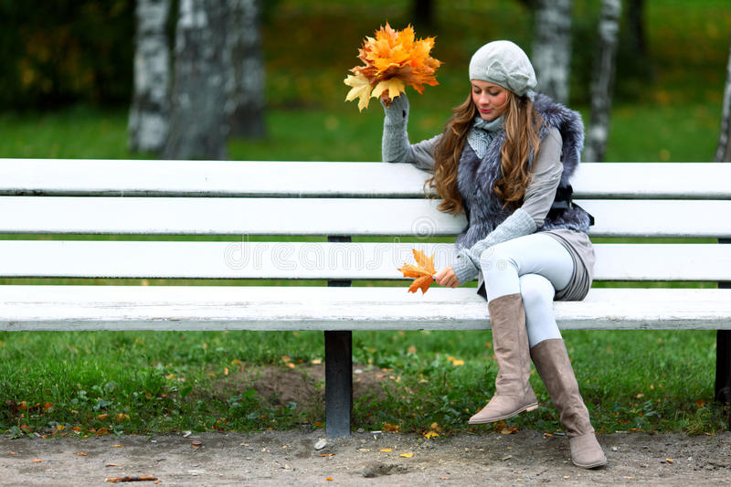Download Autumn woman stock photo. Image of october, girl, adult - 26239554
