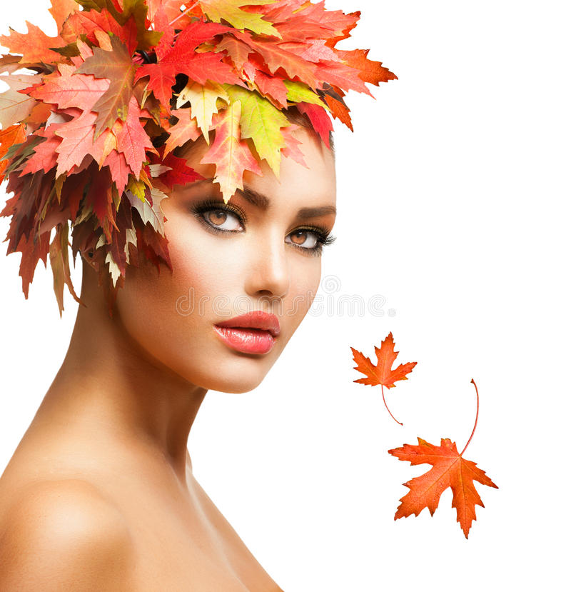 Autumn Woman stockfoto