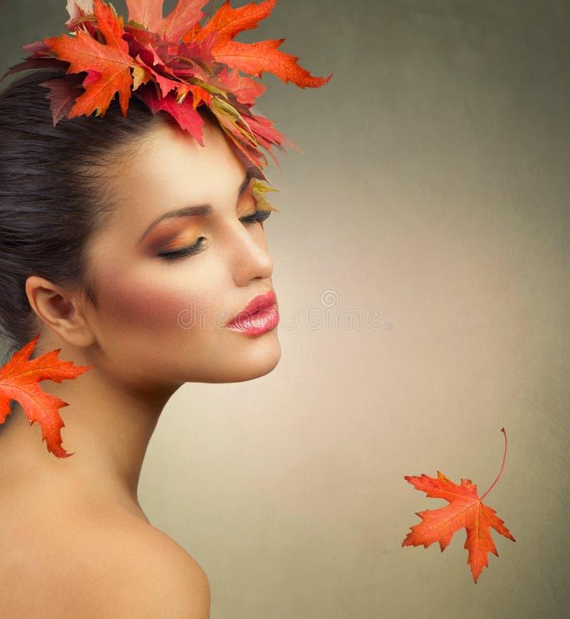 Autumn Woman stockbild