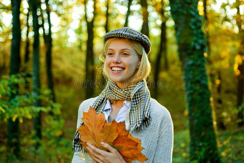 Autumn woman. Autumnal mood. Autumn woman with autumnal mood. Autumn Beauty. Outdoor portrait Gorgeous model girl with stock photos