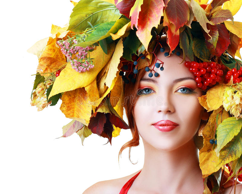 Download Autumn Woman stock image. Image of healthy, up, brunette - 33403235