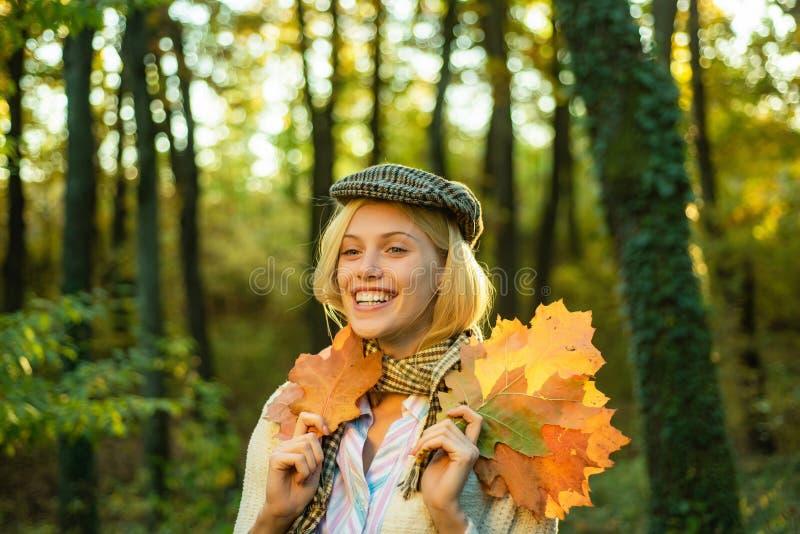 Autumn woman. Fashion portrait of beautiful sensual woman. Autumn girl. royalty free stock photography