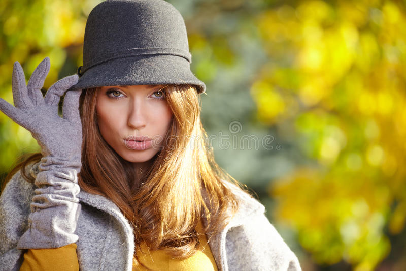 Autumn Woman Portrait imágenes de archivo libres de regalías