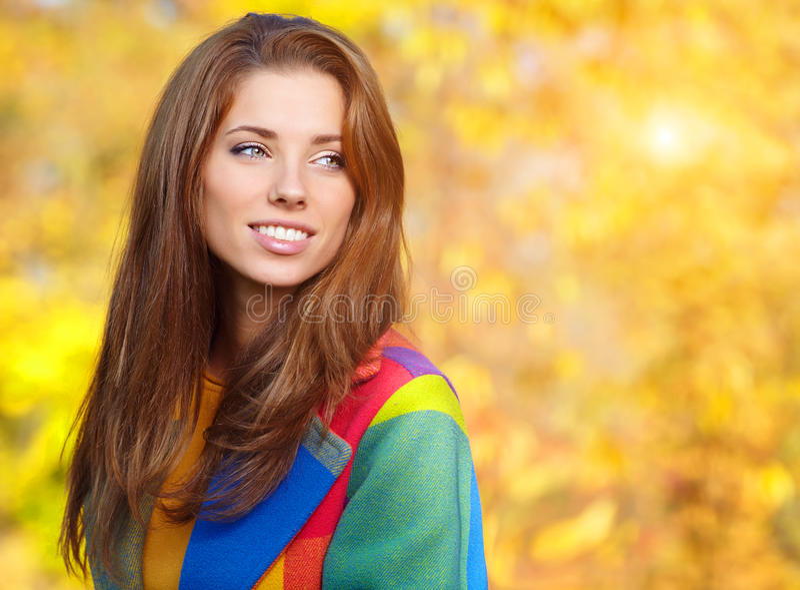 Autumn Woman Portrait royalty-vrije stock afbeeldingen