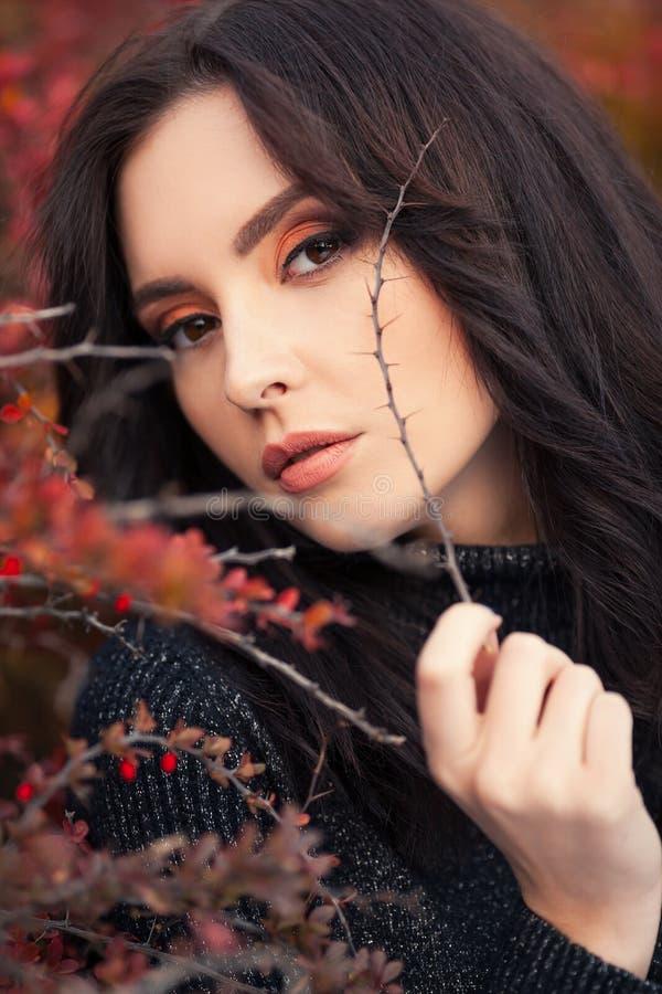 Autumn Woman Portrait stockbild