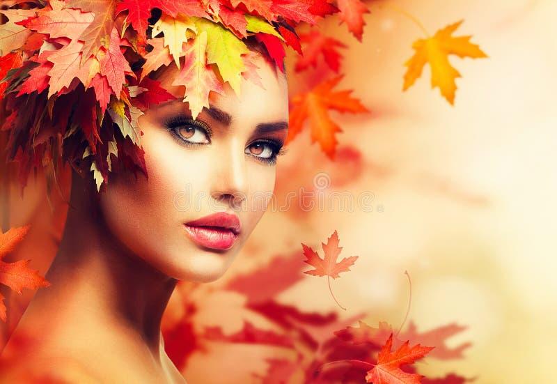 Autumn Woman Portrait. Beauty Fashion Model Girl royalty free stock photo