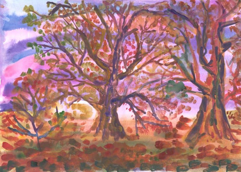 Download Autumn wood stock illustration. Image of illustration - 27562798