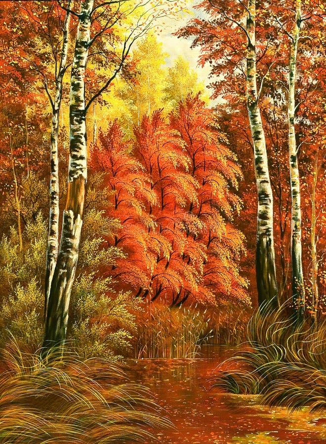 Free Autumn Wood Landscape Royalty Free Stock Image - 7190396