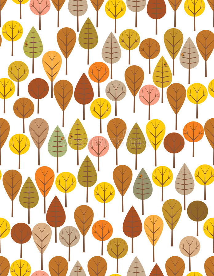 Download Autumn woods stock vector. Image of repeat, trees, woods - 19149477