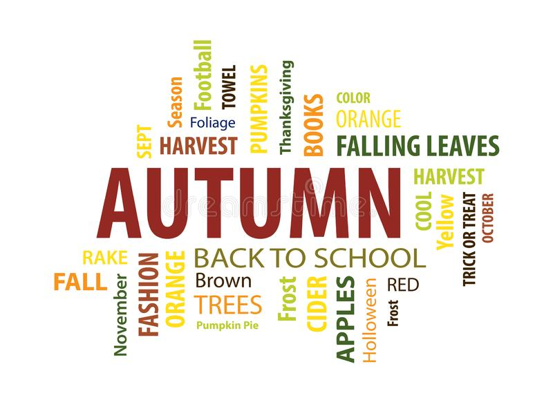 Autumn Word Cloud illustration libre de droits