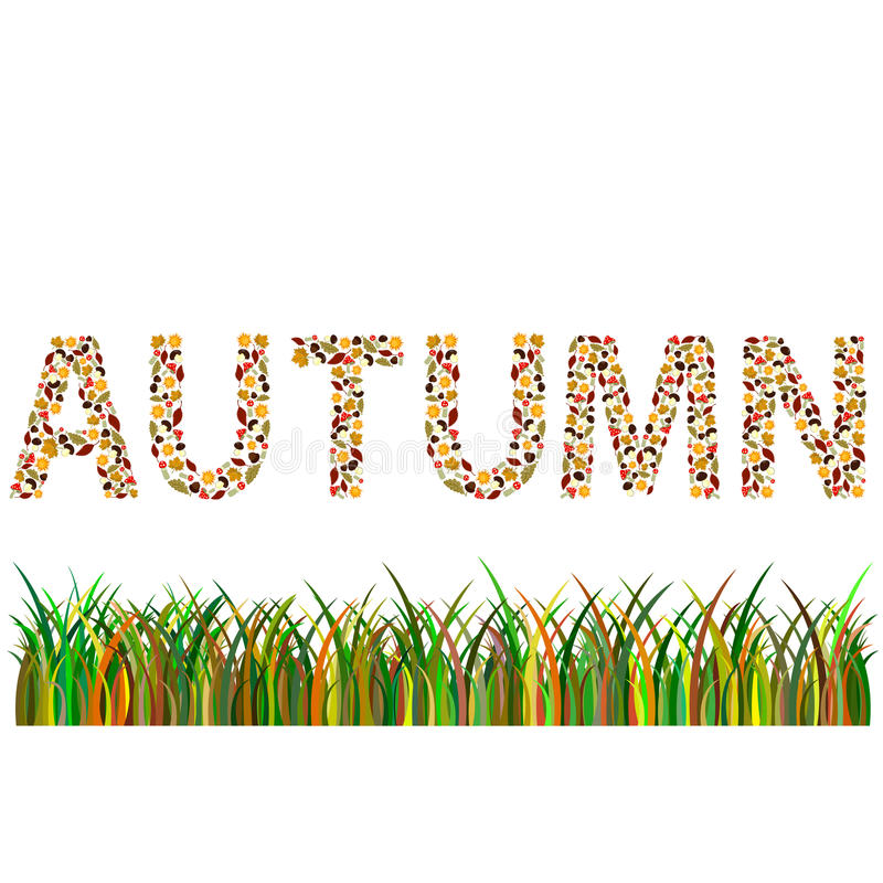 autumn word royalty free stock images