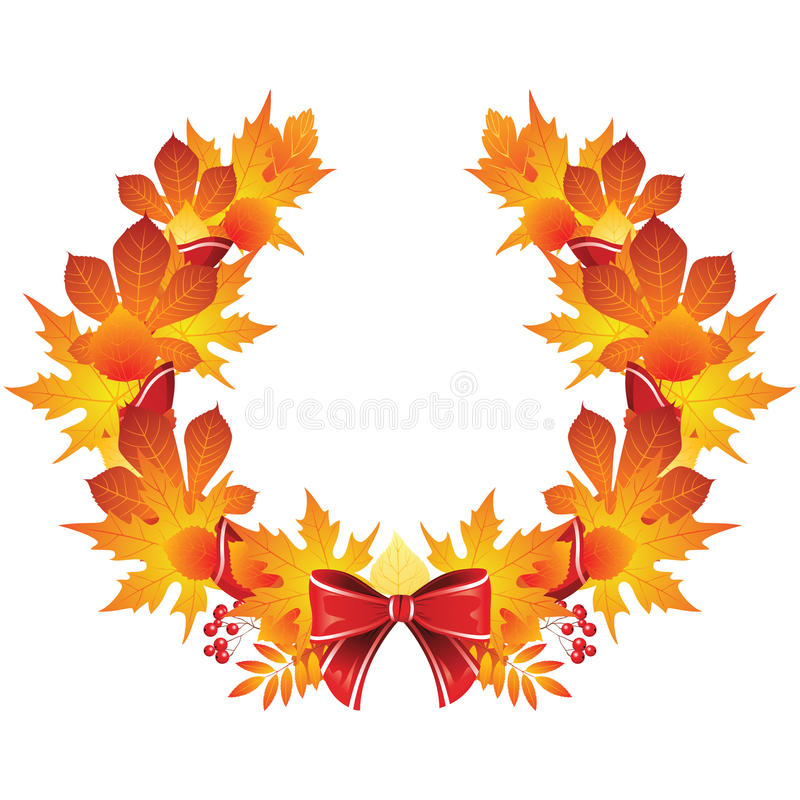 Autumn wreath stock illustration