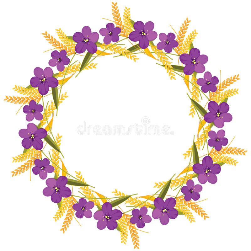 Download Autumn wreath stock vector. Image of image, isolated - 24697688