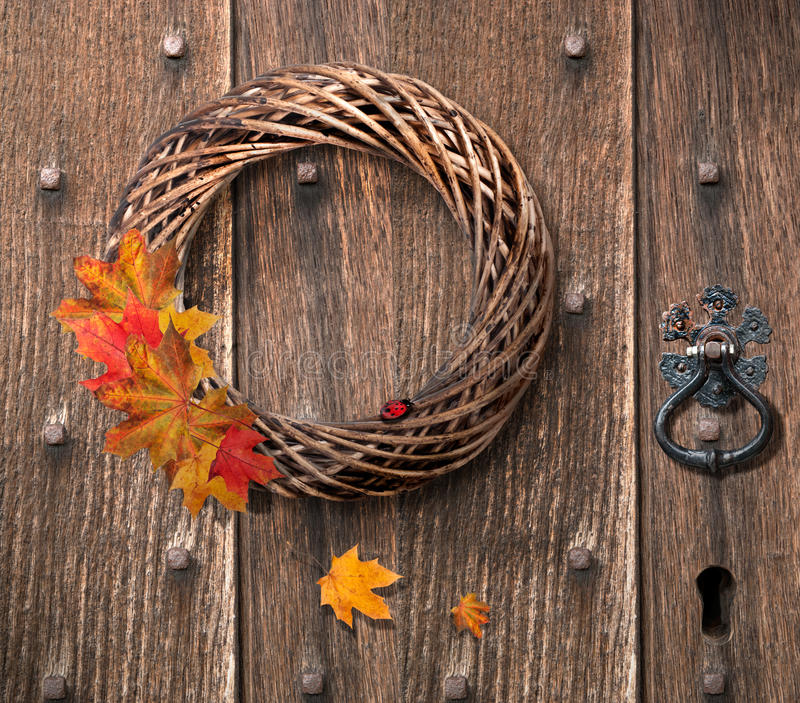 Download Autumn Wreath stock image. Image of decoration, decorated - 26314721