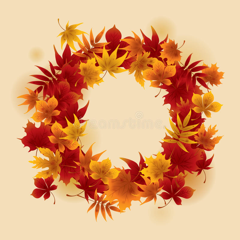 Autumn Wreath illustrazione vettoriale