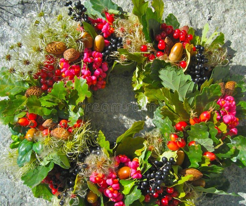 Autumn Wreath fotografering för bildbyråer