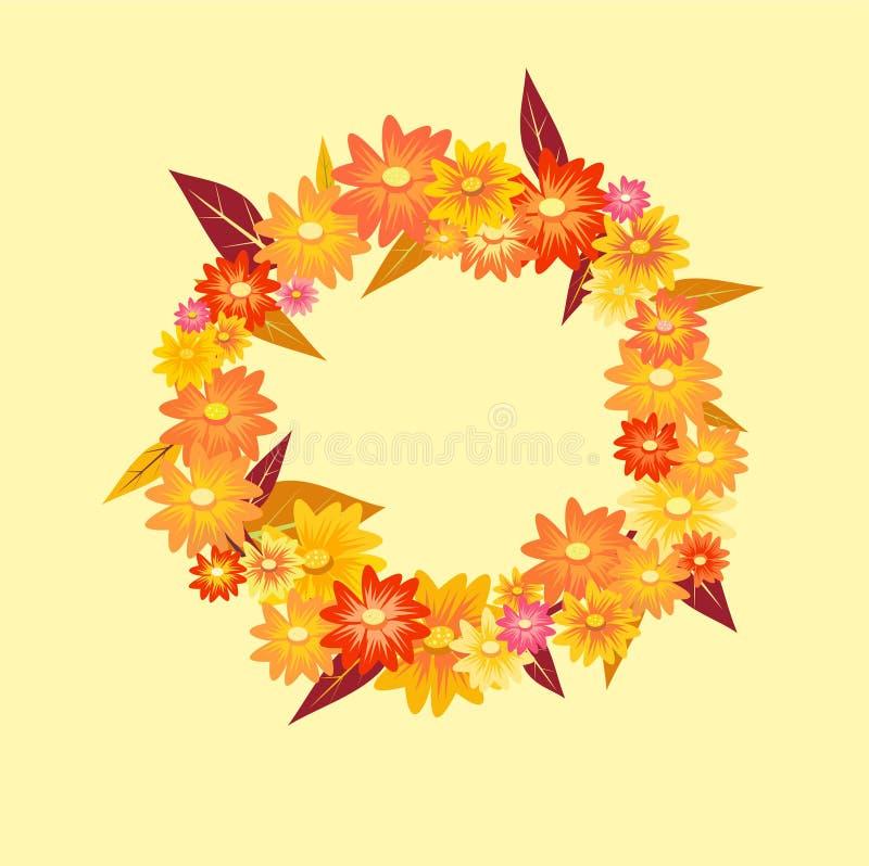 Autumn Wreath royalty-vrije illustratie