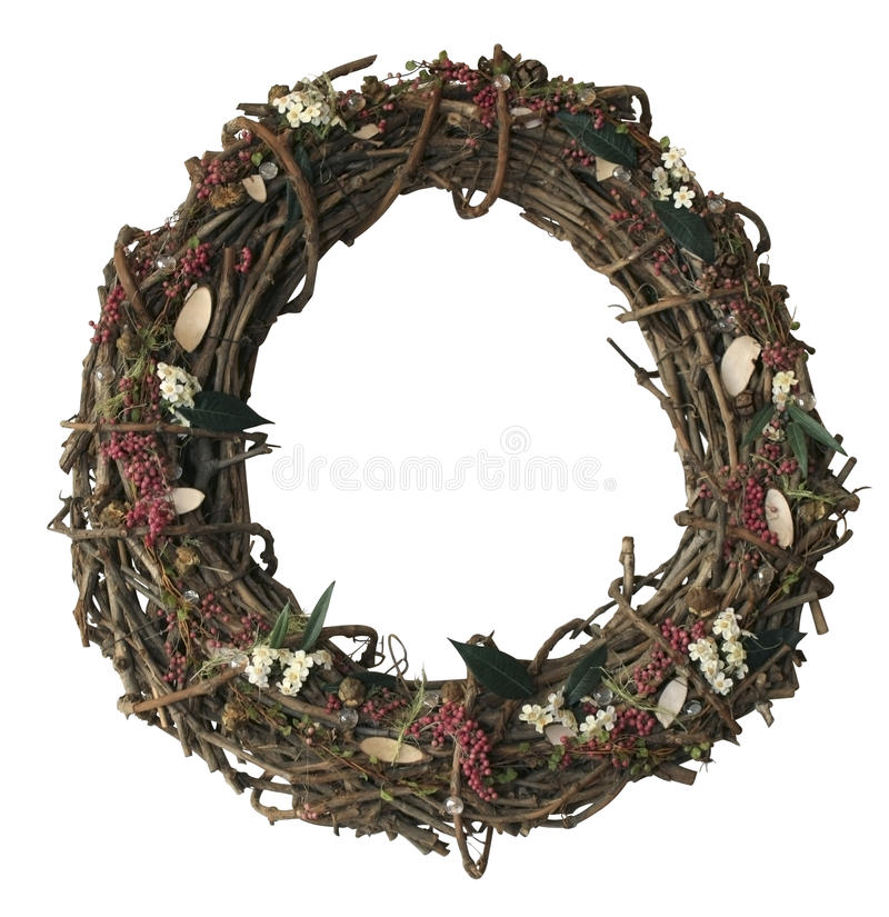 Autumn wreath royalty free stock images