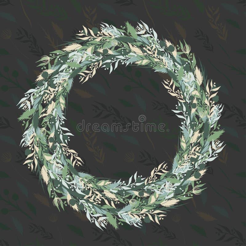 Autumn wreath royalty free stock photography