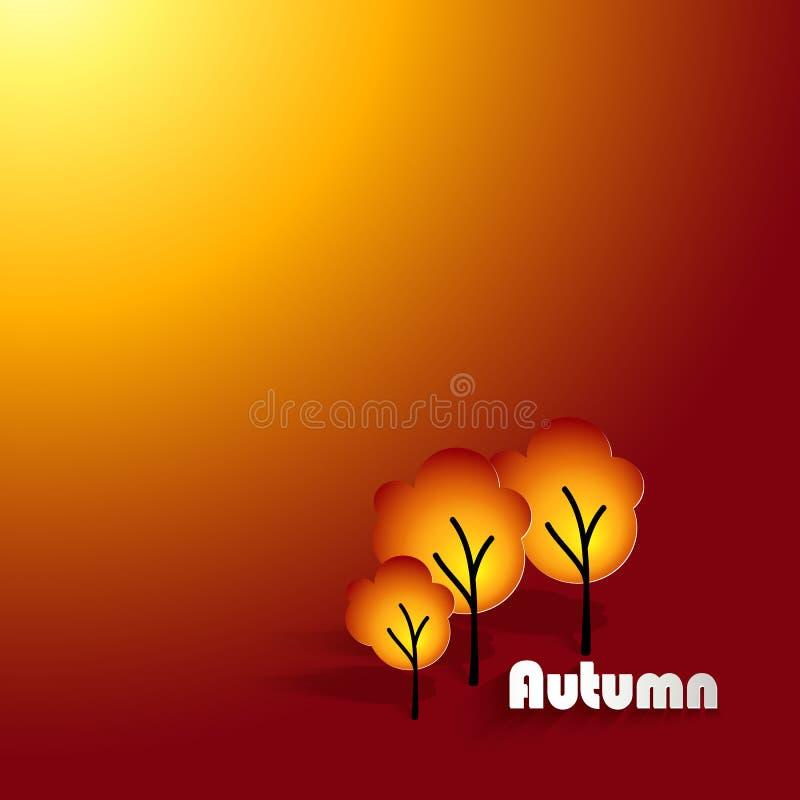 Autumn Yellow Flyer Template ilustração do vetor