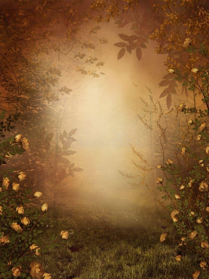 Autumnal background royalty free illustration