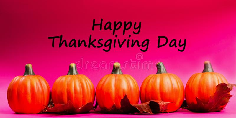 Autumnal background. Text happy thanksgiving day. royalty free stock images