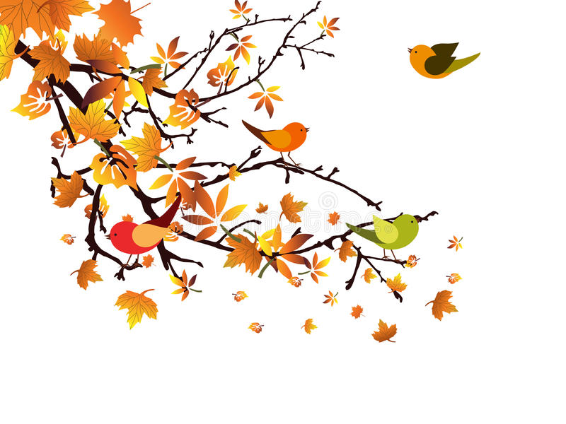 Autumnal branch royalty free illustration