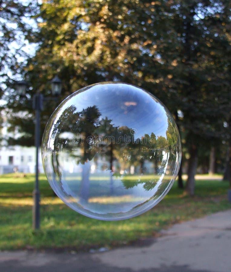 Autumnal soap bubble stock photo