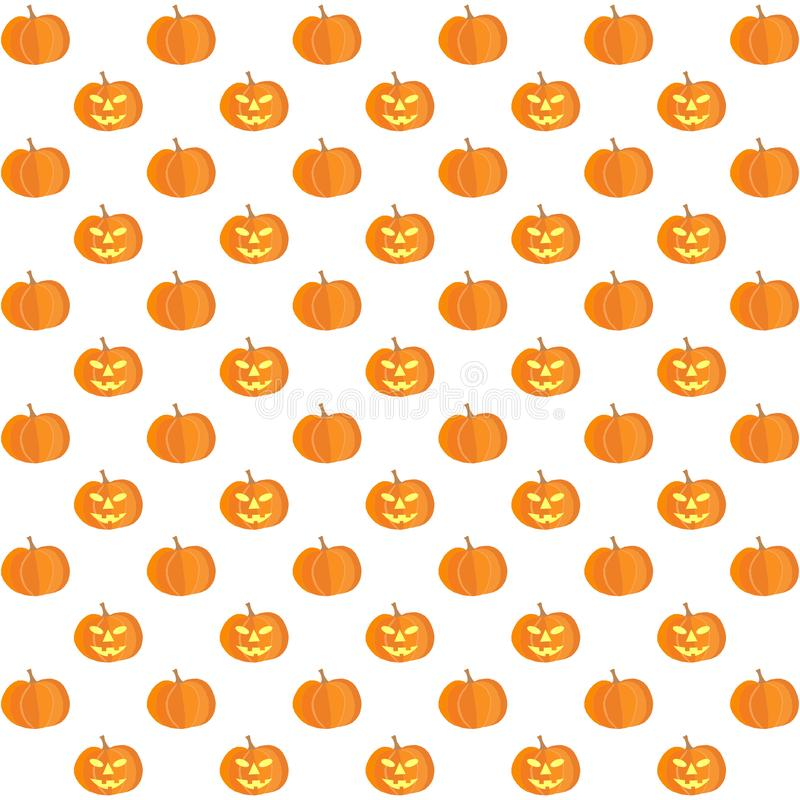 Autumnal/fall background from pumpkins on white. Background in square format vector illustration
