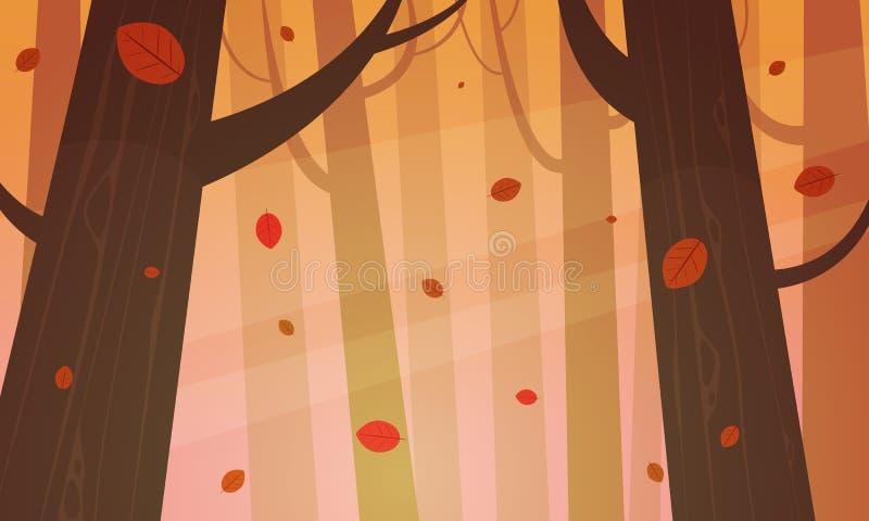 autumnal forest απεικόνιση αποθεμάτων