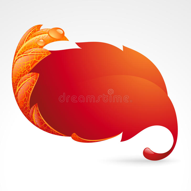 Autumnal Frame In The Shape Of Fallen Leaf 2 Royalty Free Stock Photos