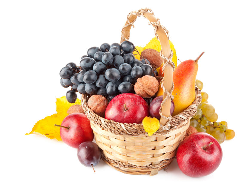 Download Autumnal fruit in basket stock image. Image of organic - 21378079