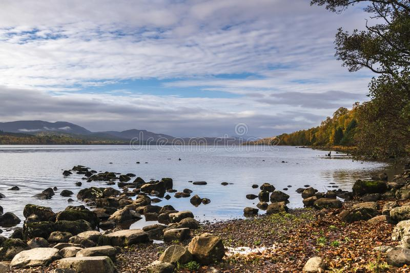 Loch Rannoch. An autumnal image of Loch Rannoch in the Scottish Highlands, Perth and Kinross, Scotland. 18 October 2018 royalty free stock photos