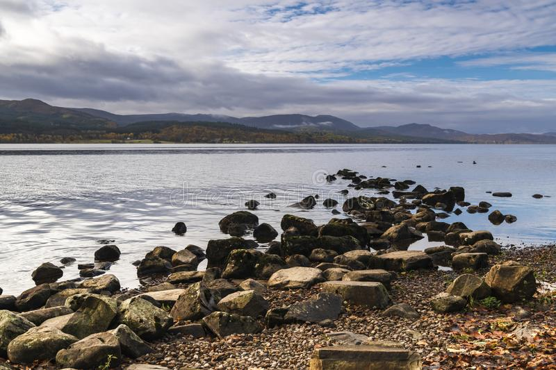Loch Rannoch. An autumnal image of Loch Rannoch in the Scottish Highlands, Perth and Kinross, Scotland. 18 October 2018 royalty free stock photo
