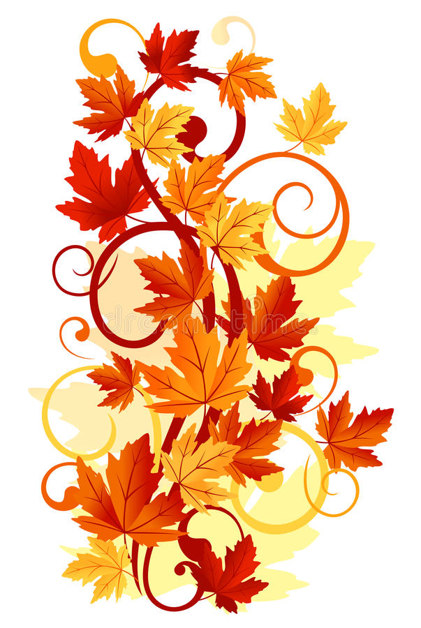 Download Autumnal leaves stock vector. Image of foliage, decorative - 22306671