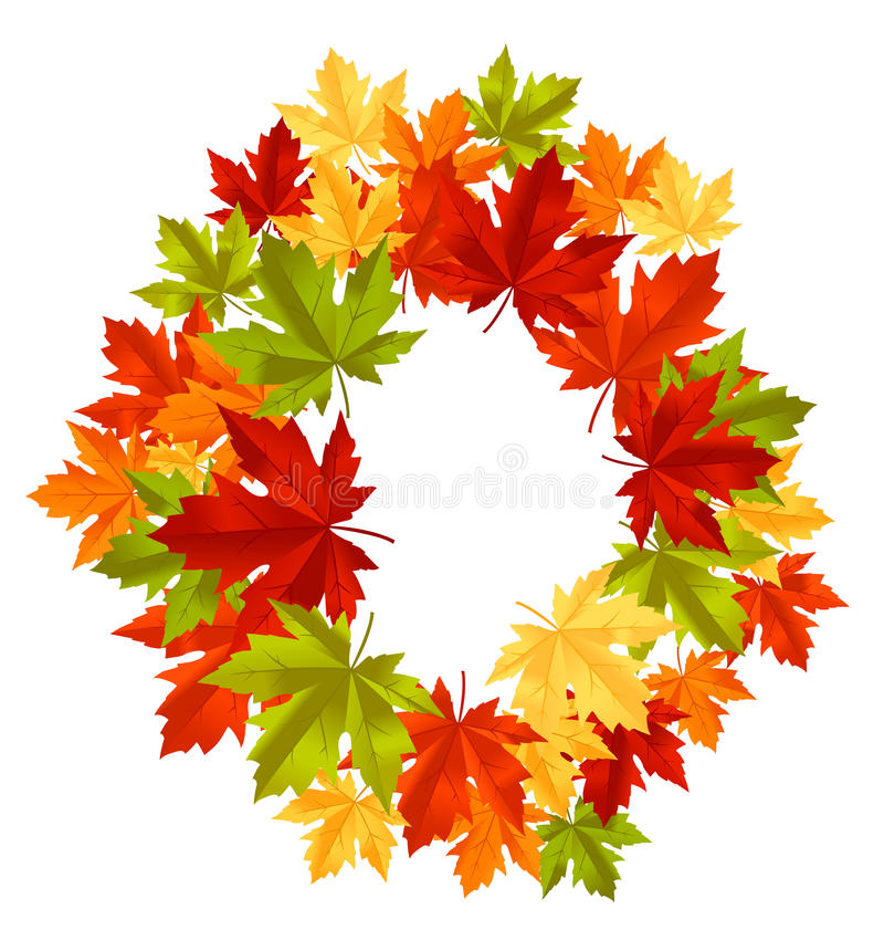 Download Autumnal leaves frame stock vector. Image of isolated - 21717307