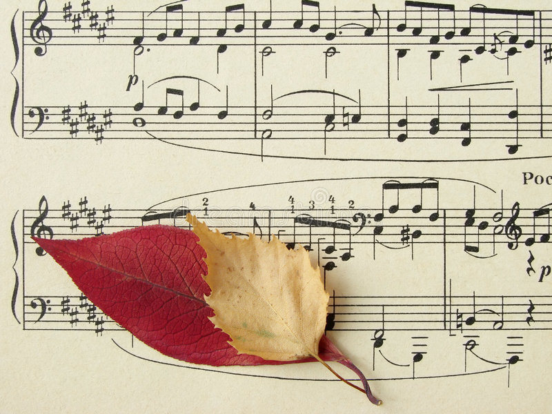 Autumnal melody royalty free stock photos