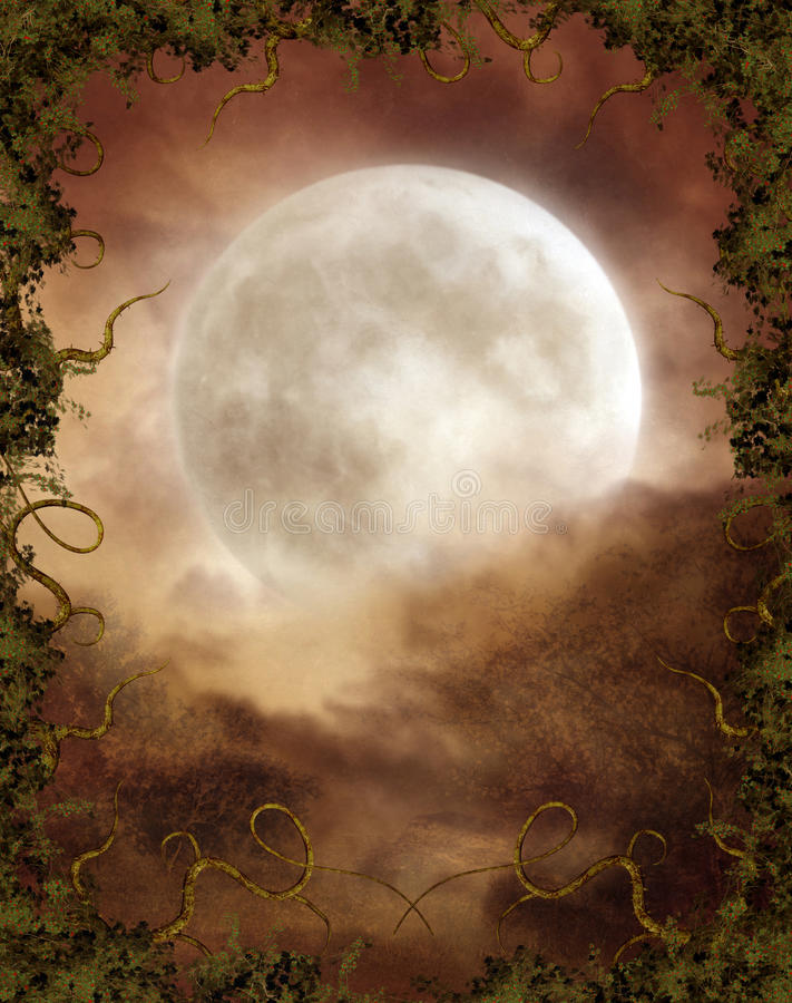 Autumnal moon stock illustration