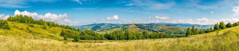 Autumnal panorama of mountainous countryside stock photos