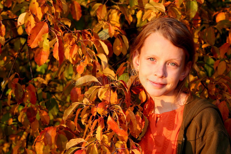Autumnal portrait stock photo