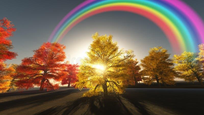 Download Autumnal Rainbow stock illustration. Image of autumn - 25237891