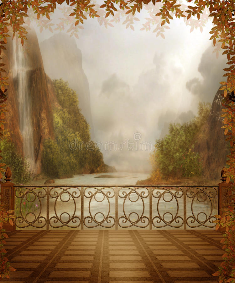 Autumnal scenery 4 royalty free illustration